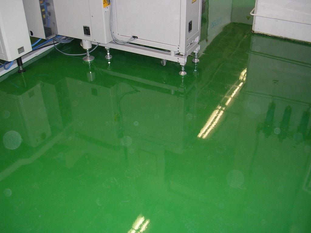 Antistatické podlahy vo výrobnej hale - farby RAL