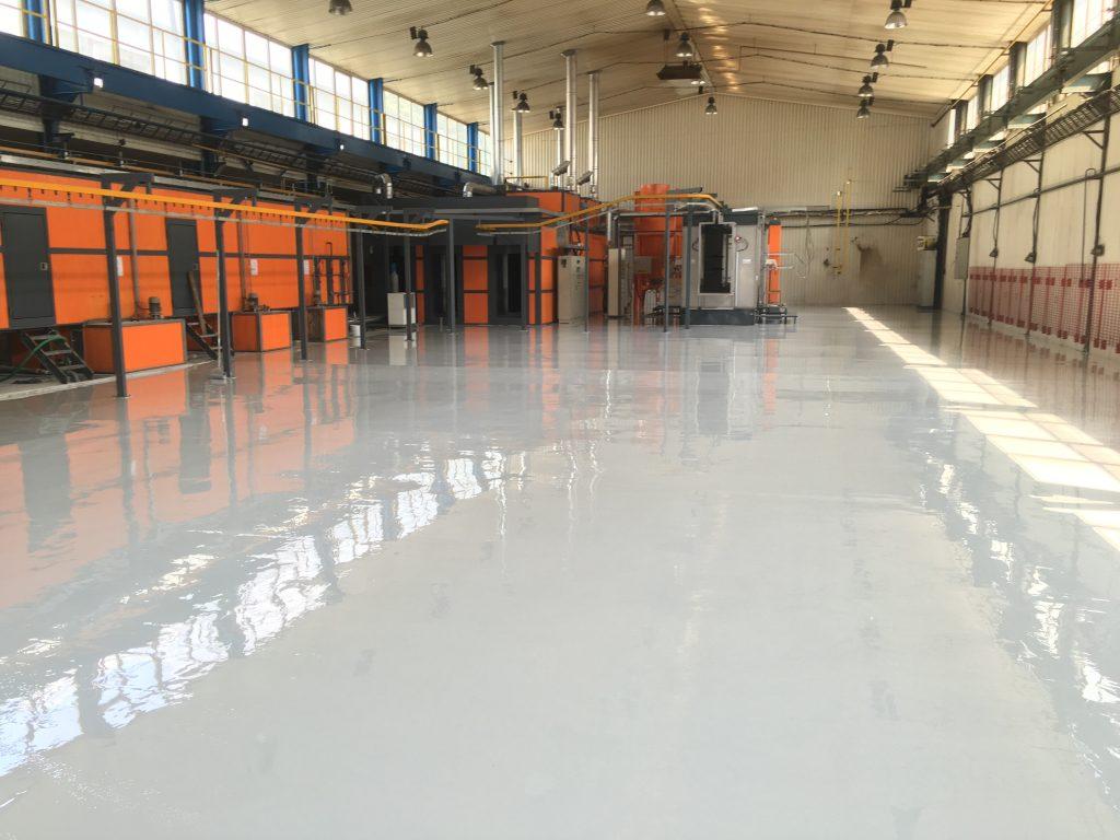 Priemyselné podlahy a výrobné haly - liaté, cena na m2, recenzie