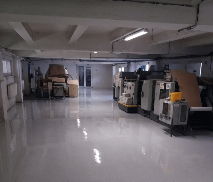 Priemyselná podlaha výrobná hala