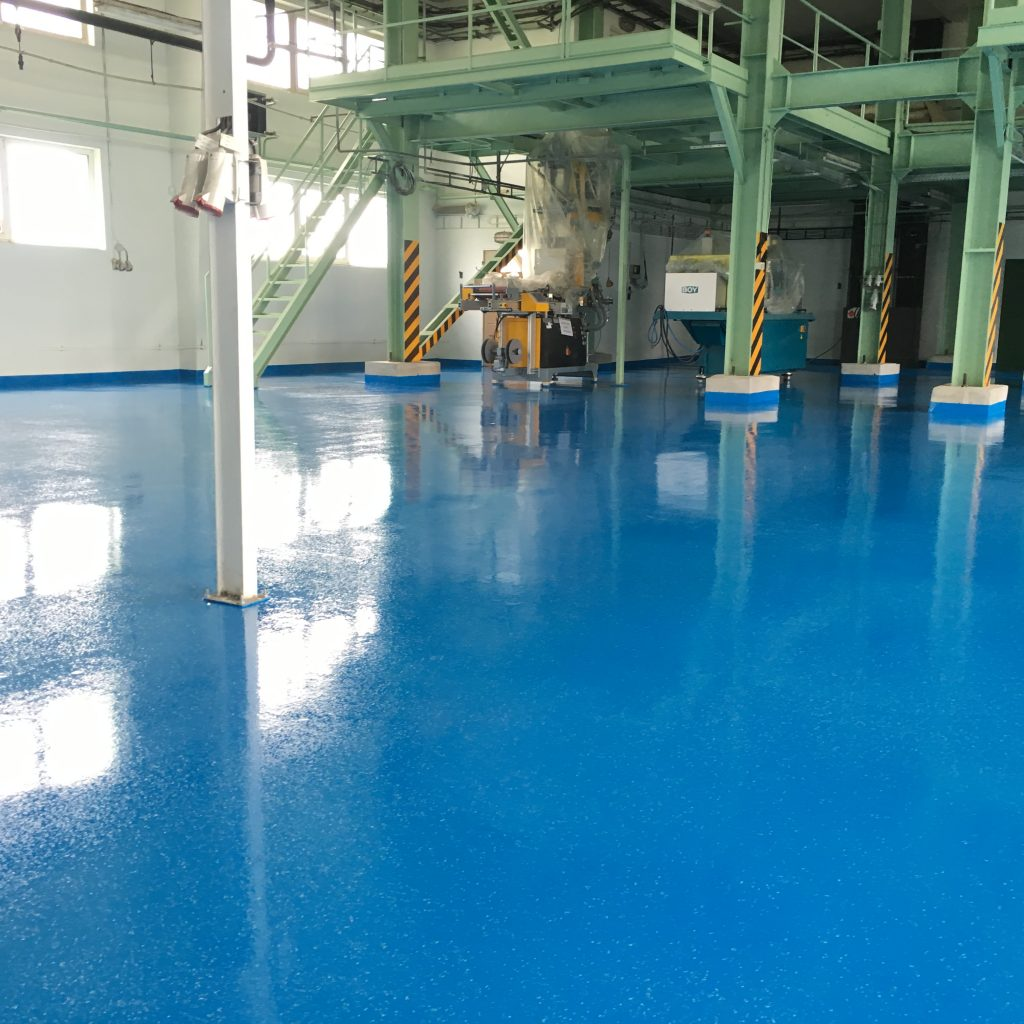 Epoxidové nátery na priemyselné podlahy - bezprašný materiál, cena na m2, vzorkovník ral